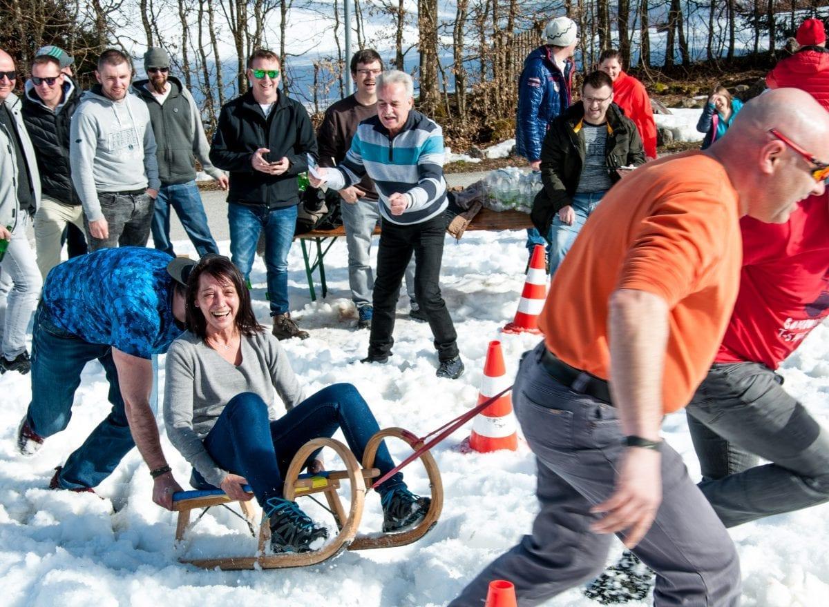 ms-CNS 5 Jahresfeier Mitarbeiterevent - Rodelrennen