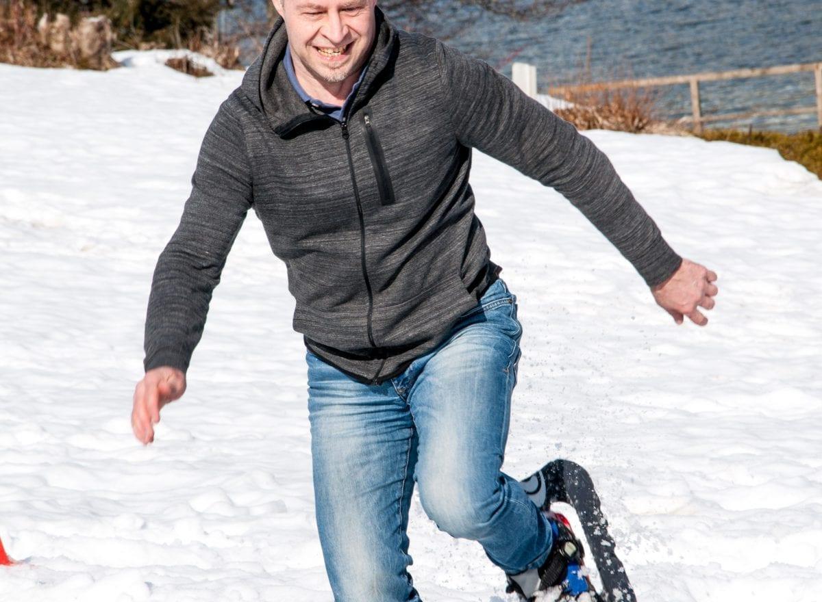 ms-CNS 5 Jahresfeier Mitarbeiterevent - Schneeschuhstaffellauf