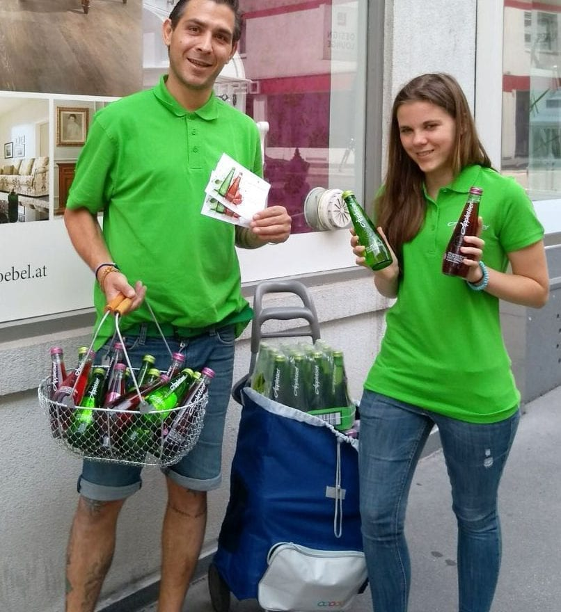 Appletiser Office Sampling